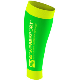 Compressport Calf R2 - Calentadores - amarillo/verde
